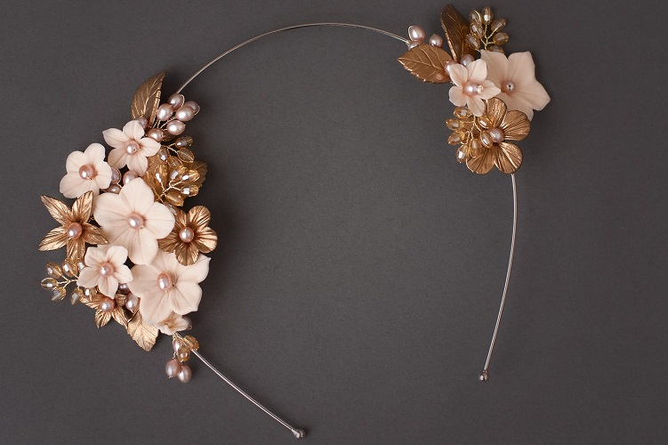 gold bridal headbands