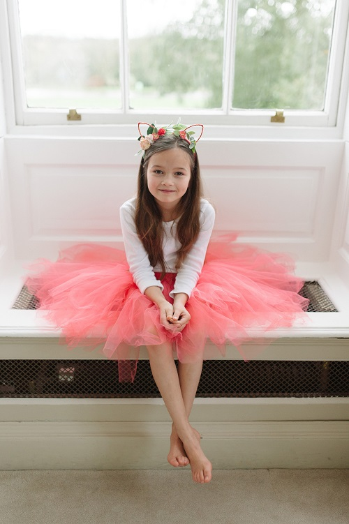 Coral bridesmaid tutu skirt